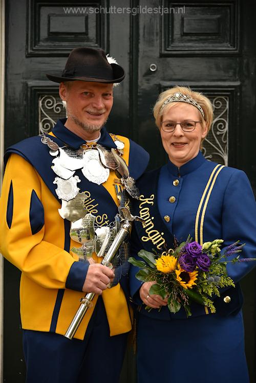 Huidige koningspaar Ernest & Bernadette